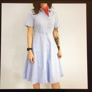 Banana Republic NWT Blue scallop shirtdress Size 4